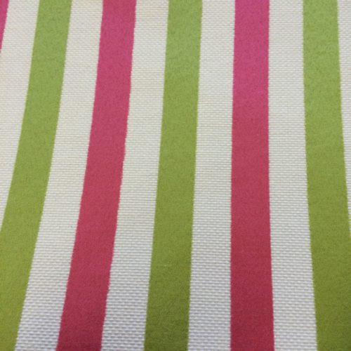 Candy Stripes in Pink & Green
