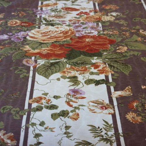 Annabelle Floral by F Schumacher - floral striped fabric