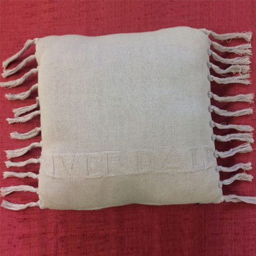 Beige Fringe Cushion by Riverdale