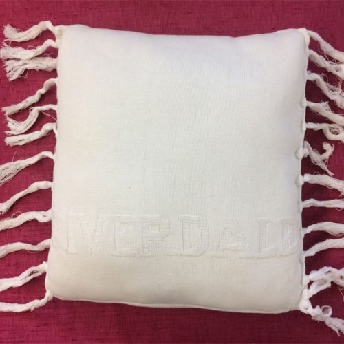 Cream Fringe Cushion by Riverdale