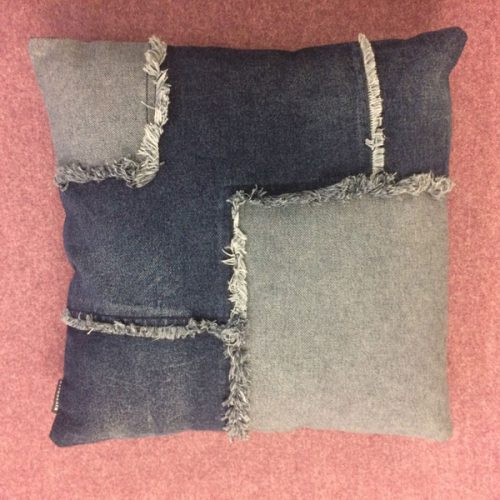 Denim Cushion by Riverdale