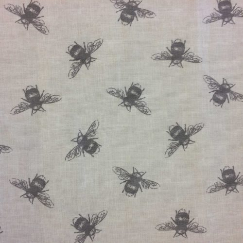 Bees in Linen by Fryetts Fabric