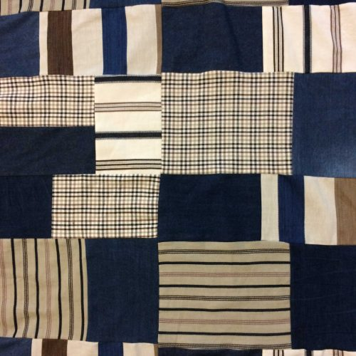 Patchwork Denim Fabric in Brown