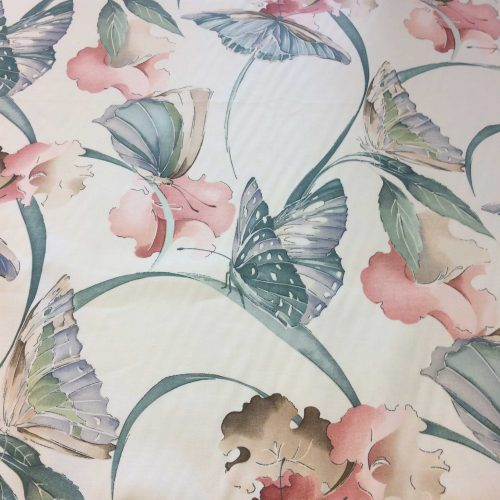 Solitude by Crowson Fabrics butterfly and flower pattern