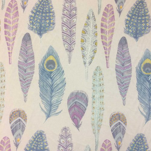 Samui Print in Heather by Voyage Scandi style feather design