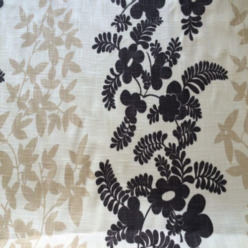 Chocolate, Cream and Beige Floral