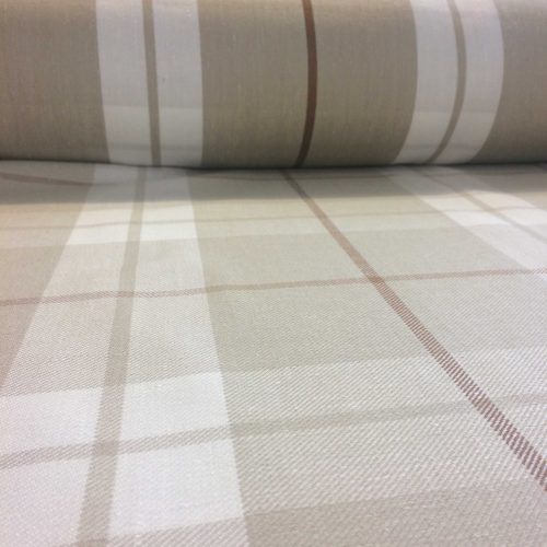 Foxton Check Cream/Taupe by Scutt & Coles