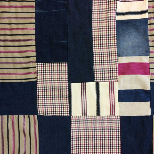 Patchwork Denim Fabric in Pink