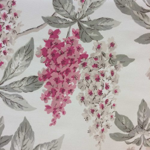 Chestnut Blossoms by Warner Fabrics pink and cream chestnut blossom bunches